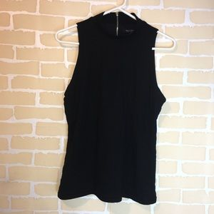 White House black market zip up tank top size M
